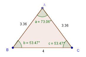 Ligesidet trekant omkreds
