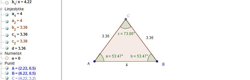 trekant med to menn Hønefoss