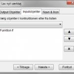 Værktøj - Toppunkt & Rødder for funktion - Inputobjekter