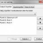 Værktøj - Toppunkt & Rødder for funktion - Outputobjekter